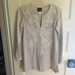 Sachin & Babi Embroidered Kaftan Top